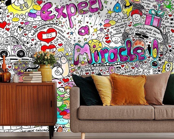 Sfeerimpressie behang: Erwarte ein Wunder van Sandra Riedel ( SaRidie-arts)