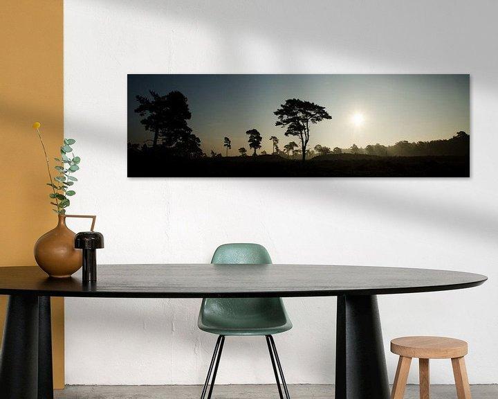 Impression: Momen silhouet bij zonsopkomst, Leuvenumse Bossen sur Maurice Verschuur