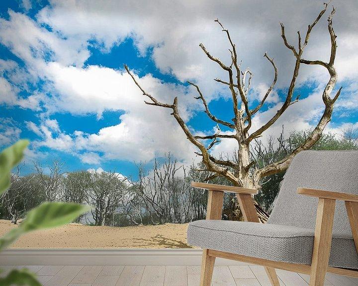 Sfeerimpressie behang: Kruinzoeker van Robert Smink