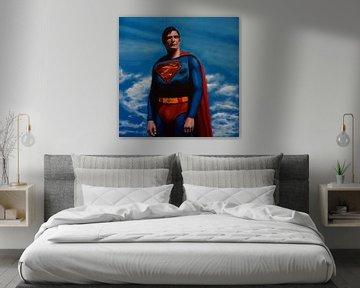 Christopher Reeve as Superman schilderij von Paul Meijering