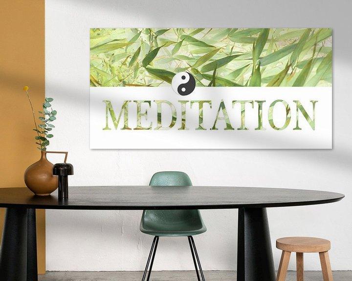 Sfeerimpressie: Meditation - more than letters van Heidemarie Andrea Sattler