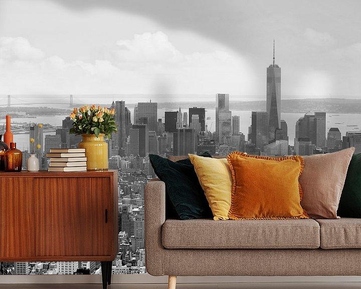 Sfeerimpressie behang: Manhattan, New York van Teuni's Dreams of Reality