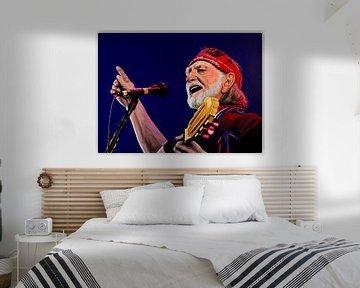 Willie Nelson schilderij van Paul Meijering