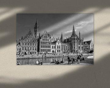 Graslei in Gent(B)  van Don Fonzarelli