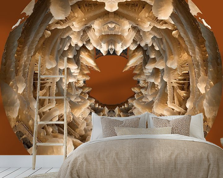 Beispiel fototapete: IJssculpturen, Lauwersmeer, cognac, depth. von Greet ten Have-Bloem