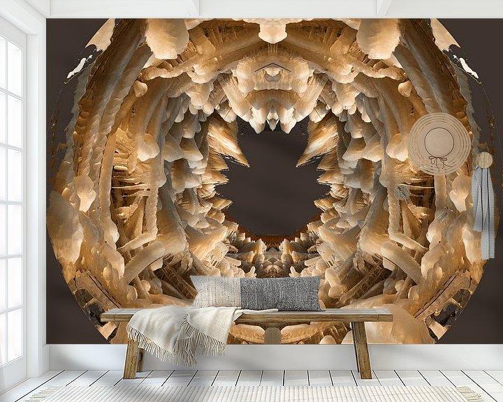 Beispiel fototapete: IJssculpturen, Lauwersmeer, taupe, depth von Greet ten Have-Bloem