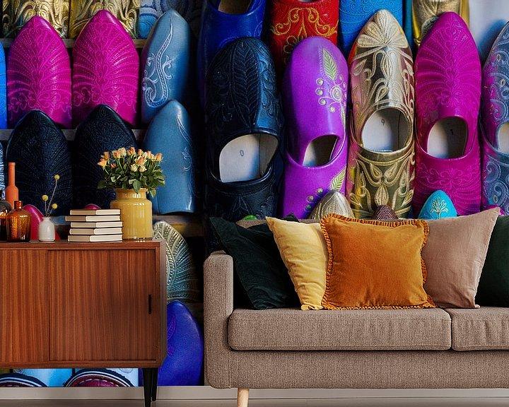 Sfeerimpressie behang: Kleurrijk Marokko van BTF Fotografie