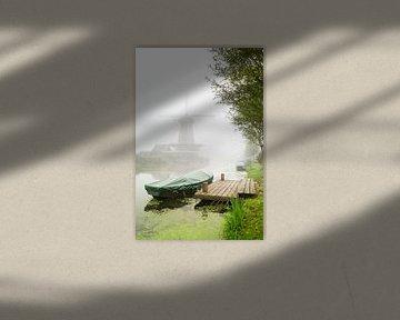Mist in Bleskensgraaf van Jan Koppelaar