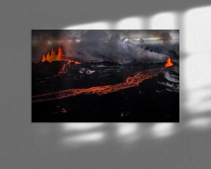 Beispiel: Holuhraun/Bardarbunga Vulkanausbruch (Island) von Lukas Gawenda