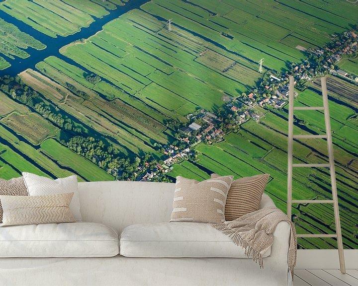 Sfeerimpressie behang: Nederland van boven van BTF Fotografie