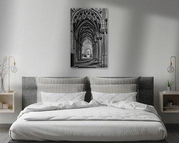 St. Joriskerk historisch Amersfoort in zwartwit von Watze D. de Haan