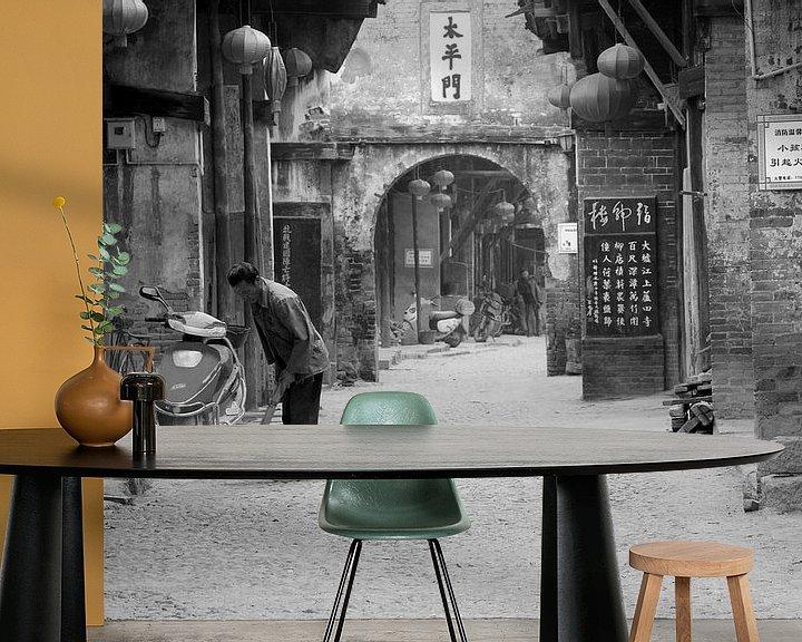 Beispiel fototapete: Altes chinesisches Dorf China von Inge Hogenbijl