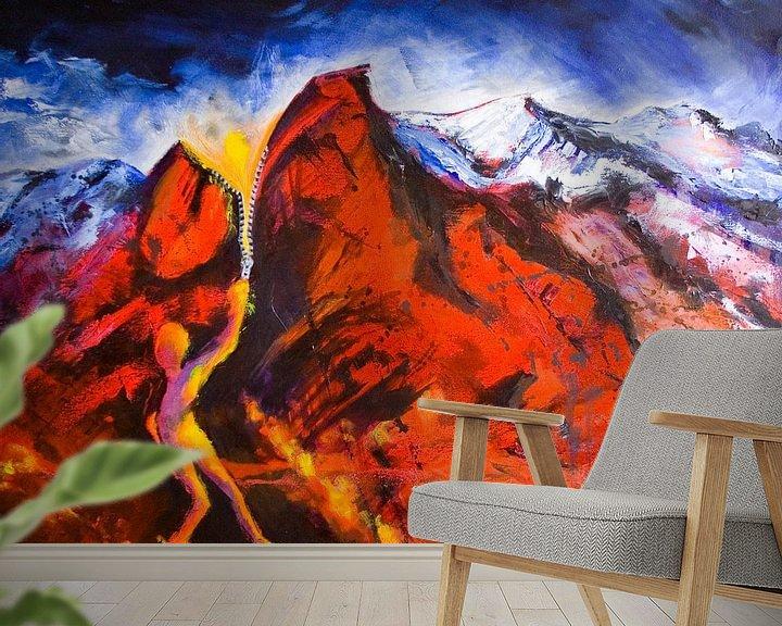 Sfeerimpressie behang: de creatie van licht van David Berkhoff