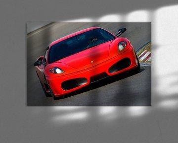 Ferrari F430 sportwagen op het circuit van Sjoerd van der Wal