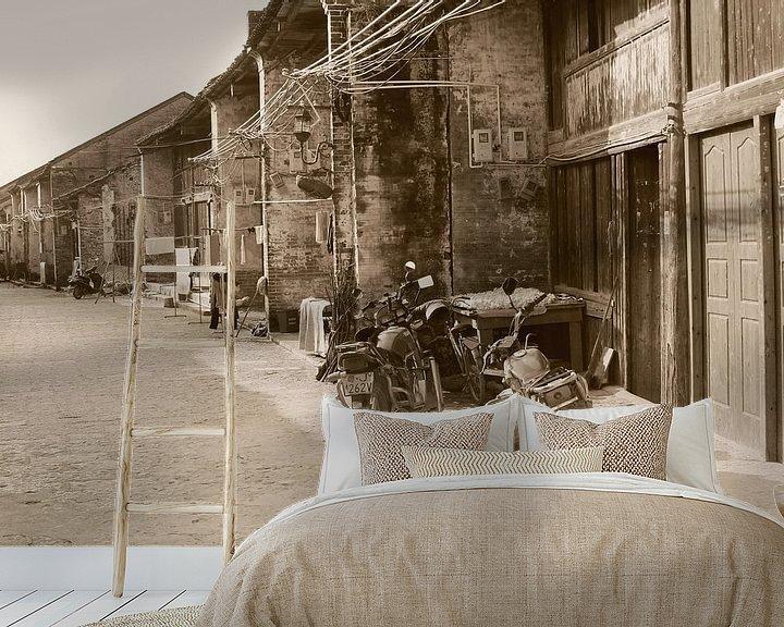 Sfeerimpressie behang: Vintage motorfietsen, China van Inge Hogenbijl