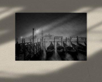 VENEDIG San Giorgio Maggiore Nachts im Nebel von Melanie Viola