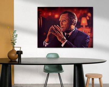 Christopher Walken schilderij von Paul Meijering