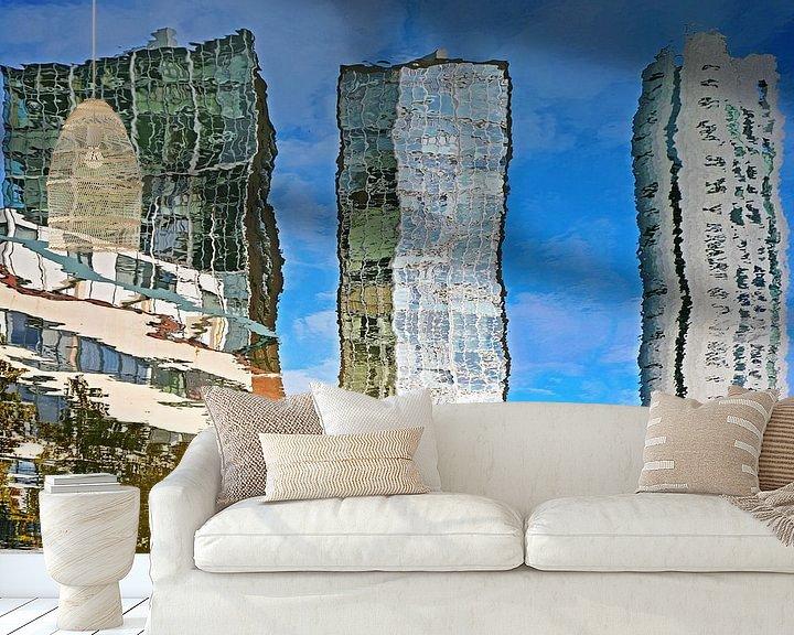 Sfeerimpressie behang: Spiegelbeeld Scheepmakershaven, Rotterdam van Frans Blok