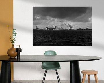 Zicht op Maasvlakte europort van Susan Hol