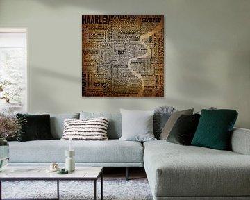 Haarlem Stadtplan Typografie von Stef Van Campen