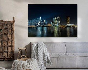 Rotterdam Skyline at Night von Joram Janssen