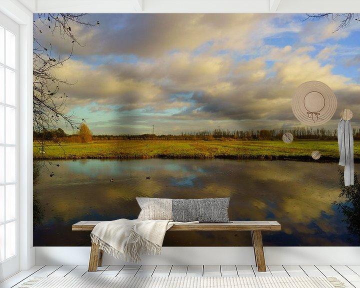 Sfeerimpressie behang: Biesbosch van Michel van Kooten