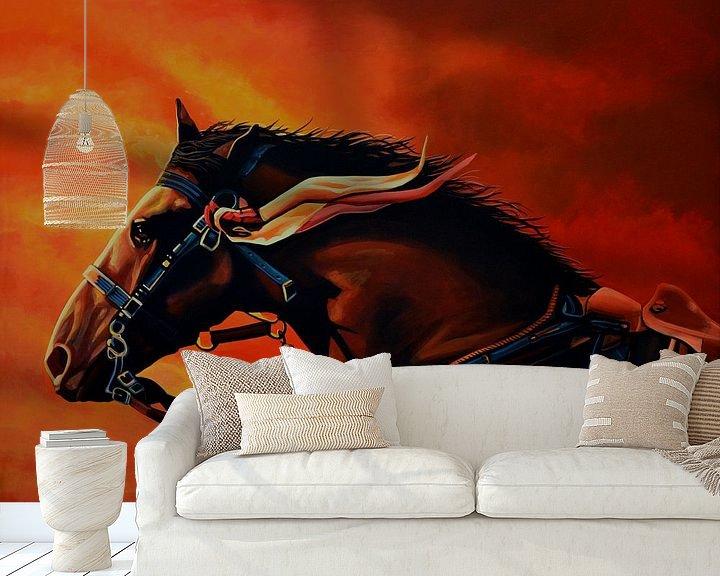 Sfeerimpressie behang: War Horse Joey schilderij van Paul Meijering