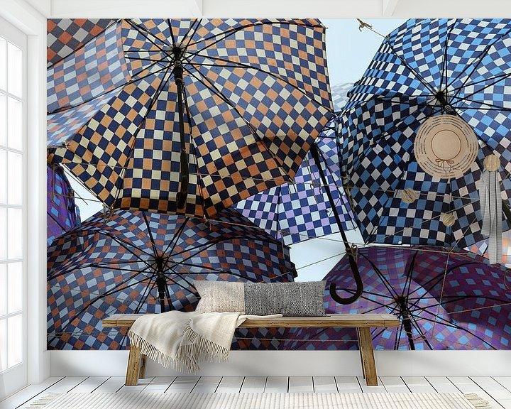 Sfeerimpressie behang: Paraplu's van Erwin Klaasse
