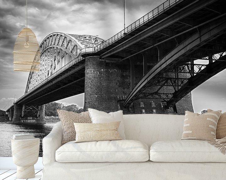 Sfeerimpressie behang: Waalbrug Nijmegen van Peter Moerman