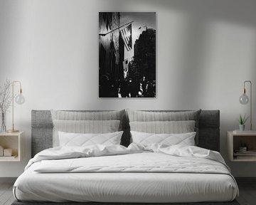 5th Avenue New York City met tegenlicht zwart-wit