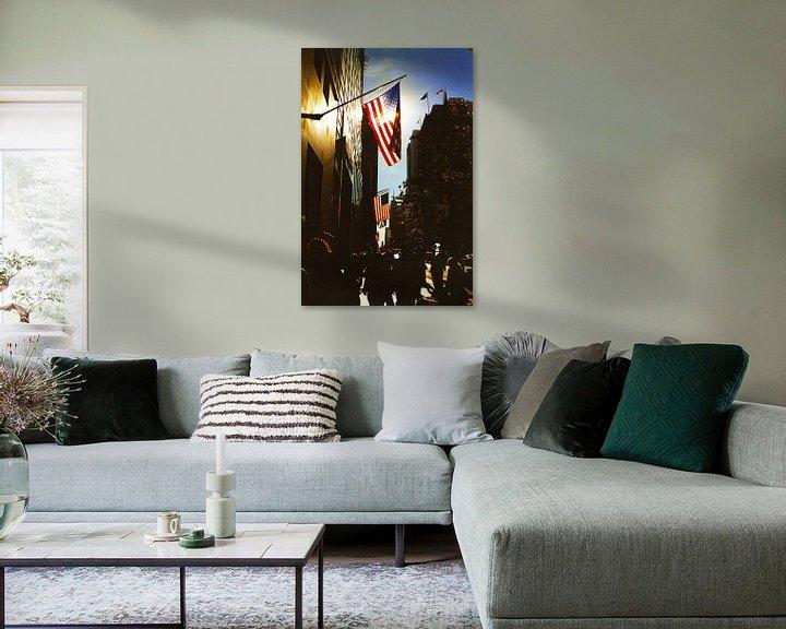 Sfeerimpressie: 5th Avenue New York City (kleur) van David Berkhoff