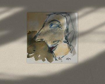 Willem, portret, avatar van Leo de Jong