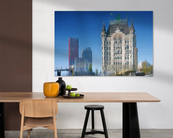 Sfeerimpressie: De Rode Appel en het Witte Huis, Rotterdam van Frans Blok