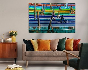 Lago Trasimeno: kleurrijke vissersbootjes van juvani photo