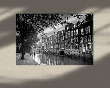 Töpfe Kade-Dordrecht (Schwarzweiß) von Jan Koppelaar