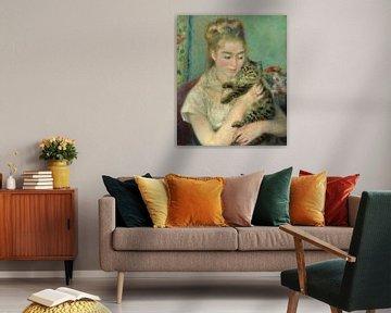 Frau mit Katze, Auguste Renoir