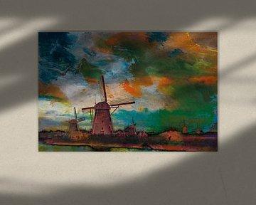 Dutch Windmills van Harry Hadders