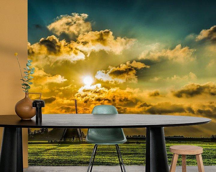 Sfeerimpressie behang: Windmolen van Harrie Muis