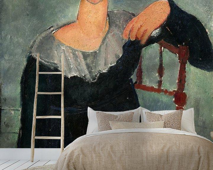 Beispiel fototapete: Frau mit roten Haaren, Amedeo Modigliani