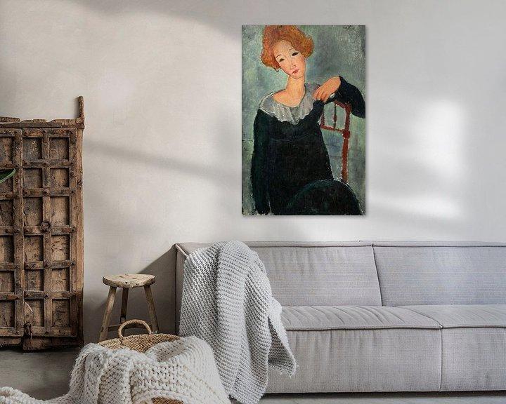 Beispiel: Frau mit roten Haaren, Amedeo Modigliani