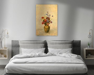 Blumen in einer Vase , Odilon Redon