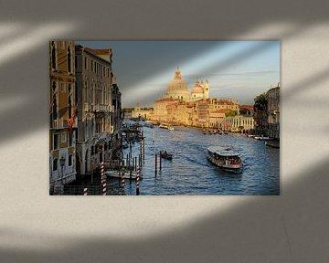 Uitzicht vanaf Ponte dell'Accademia in Venetie von Remco Swiers