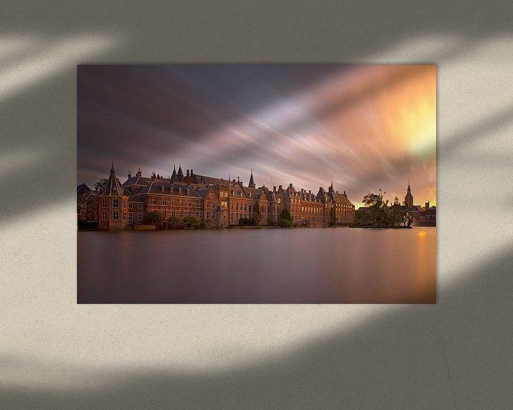 Sfeerimpressie: Binnenhof mysterieus te Den Haag van Anton de Zeeuw