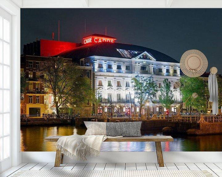 Sfeerimpressie behang: Carre te Amsterdam van Anton de Zeeuw