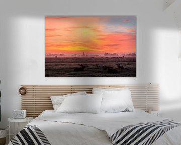 Mistige en kleurrijke zonsopkomst von Stephan Neven