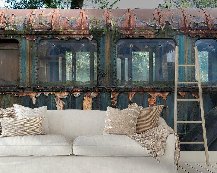 Sfeerimpressie behang: oude treinwagon van Compuinfoto .