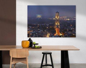 Binnenstad van Utrecht met Domtoren, Domkerk en Buurkerk, foto 2 van Donker Utrecht