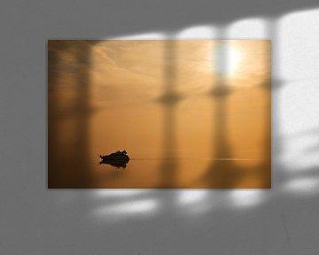 Sunset at sea van Arie Storm