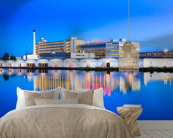 Sfeerimpressie behang: Van Nellefabriek tijden het blauwe kwartier van Prachtig Rotterdam