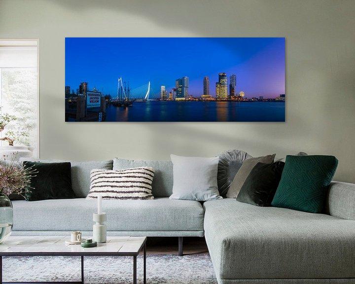 Impression: Kop van Zuid avec la super lune (panorama) sur Prachtig Rotterdam
